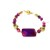 Purple agate and cat eye beaded bracelet, one of a kind bracelet created by