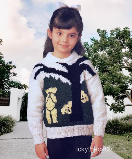 PDF Digital Download Vintage Knitting Pattern Baby Babies Childs  Sweater Jumper