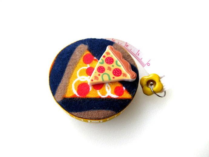 Tape Measure Hot Pizza Slices Small Retractable Measuring Tape