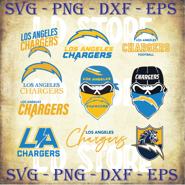 10 Los Angeles Chargers SVG! LA Chargers Svg, Los Angeles Chargers logo svg, Los