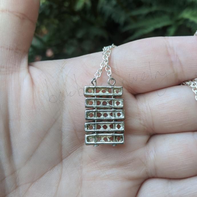 Handmade Silver Geometric Minimalist Necklace