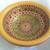 "2.5"" Mini Bowl, Hand painted Starburst Mandala in Olive & Bittersweet"