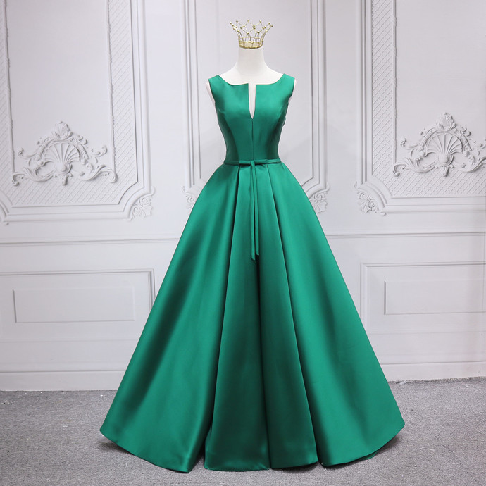 Fashionable High Quality Floor Length Green Party Dress, Green Evening Dress