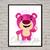 Toy Story  baby Disney, Lotso print, poster, home decor, nursery room, wall