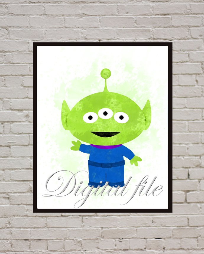 Toy Story  baby Disney Squeeze Toy Aliens print, poster, home decor nursery