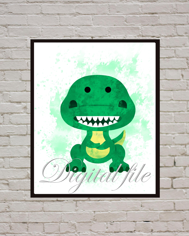 Toy Story  baby Disney, Rex the T-Rex print, poster, home decor, nursery room,