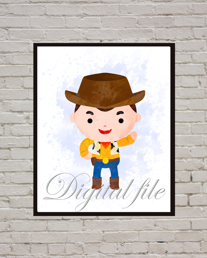 Toy Story  baby Disney, Woody Pride print, poster, home decor, nursery room,