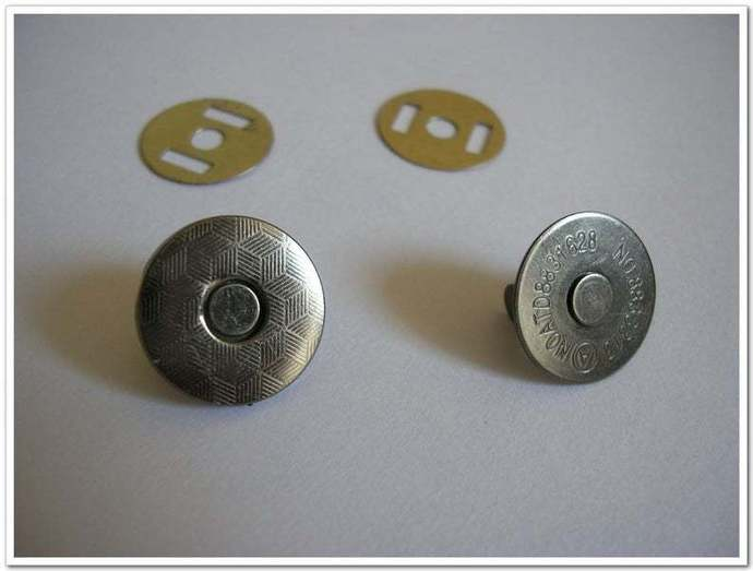20 sets 18mm brass gunmetal Thin  Magnetic Closures Magnetic Fastener Magnetic