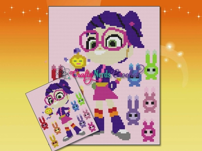 Abby Hatcher And The Squeaky Peepers Pattern Graph With Single Crochet Written