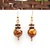Fire agate and copper earrings, Fall colors, brown earrings, natural stone
