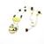 Handmade bird art pendant necklace with olive green lemon jade and wood beads,