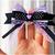 Pastel Goth Bat Bow Tie for Cats, Lavender, Black, Halloween, Pet Accessories