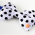 Polka Dot Puffy Bow Tie for Cats, Black, White, Pet Accessories, Hand Sewn