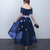 Navy Blue High low Party Dress, Tulle Off Shoulder Party Dress with Little