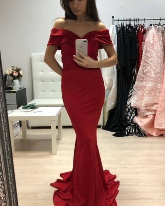 Sexy Prom Dress,Off The Shoulder Prom Dress,Mermaid Prom Dress,Long Prom