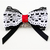 """By the Fireplace"" Black and White Cotton Lace Bow Tie for Kitty Cats,"
