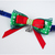 """Santa's Elf Returns"" Red and Green Bow Tie for Cats, Christmas, Pet"