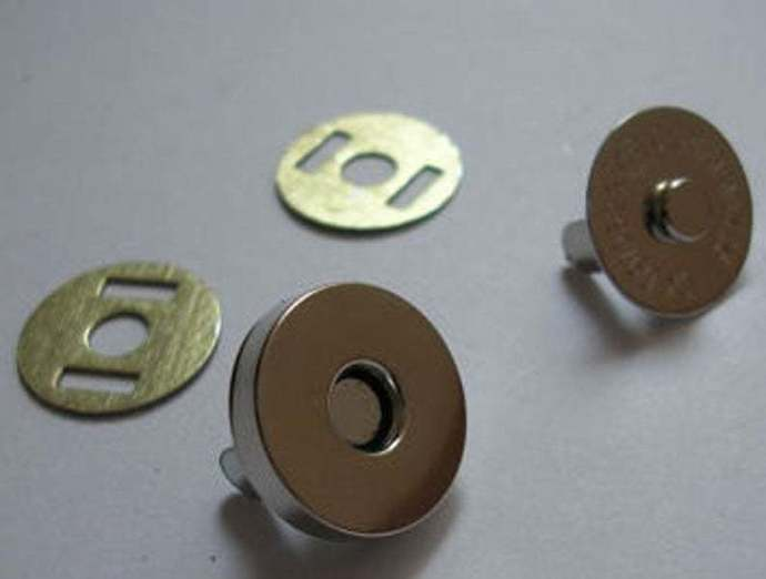 20 sets 14mm ,18mm, silver magnetic button Magnetic Snaps Magnetic Closures