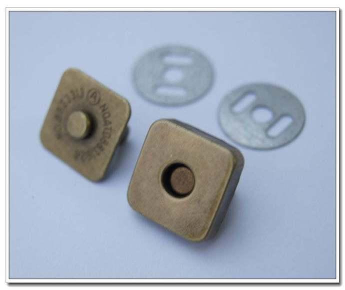 20 sets 18mm square antique brass magnetic snap Handbag Purse Bag Making