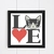 #36 I love cat Animal face Modern Cross Stitch Pattern, cute funny animal, funny