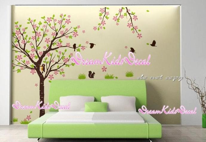 Cherry Blossom Tree wall decals nursery wall decals children girl baby wall