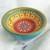 "2.5"" Mini Bowl, Hand painted Starburst Mandala in Berry, Gold & Olive"