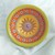 "2.5"" Mini Bowl, Hand painted Starburst Mandala in Sunshine, Orange & Lime"