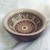 "2.5"" Mini Bowl, Hand painted Starburst Mandala in Plum, Mauve, and Gray"