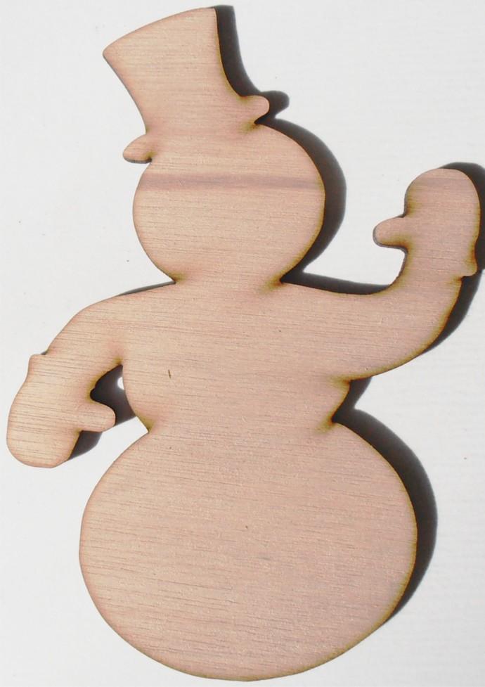Snowman Wood Cut Out / Laser Cut Wood