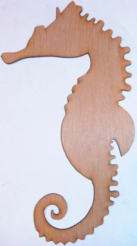 Seahorse  / Nautical Wood Cut Out / Laser Cut Wood