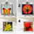 Colorful Fall pendant necklaces, Fall leaves, tree silhouette art, handmade art