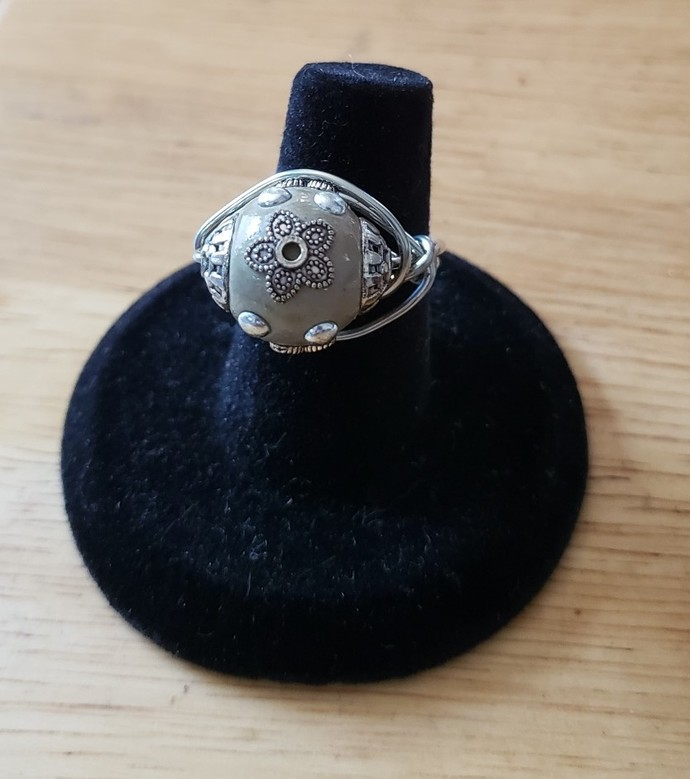 Victorian Bead Wrap Ring