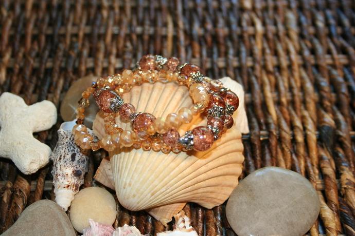 Amber Constellation Crystal Bracelet Stack