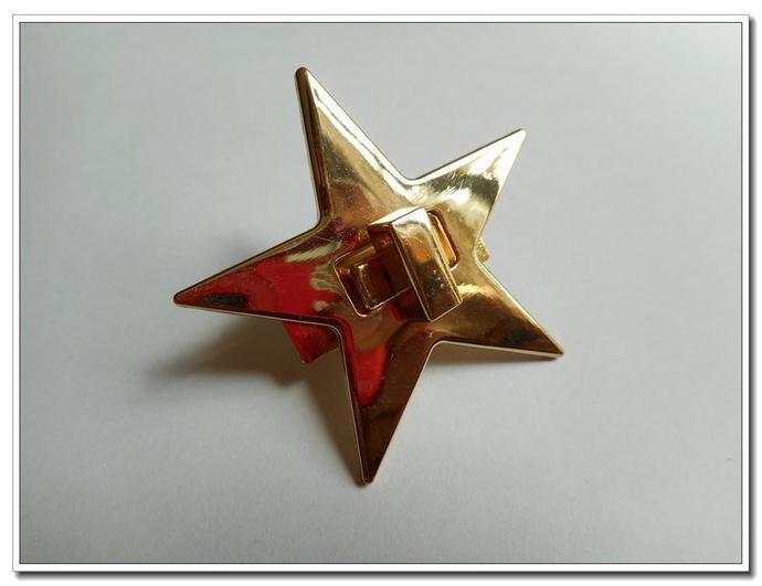 1 pcs Alloy Twist Star Golden Purse Flip Locks purse locks
