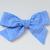 Medium Lizzy Bow - Royal Blue Herringbone