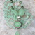 Lovely Pale Green Chalcedony, Long Beaded Necklace, with Pendant, Jewelry for