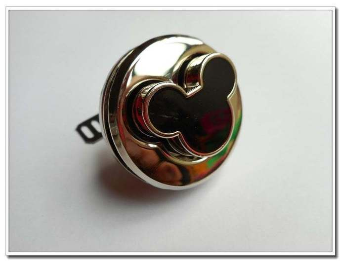 1pcs Alloy Twist Mickey Silver Purse Lock bag lock