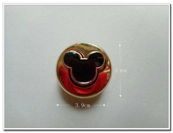 1pcs golden Alloy Twist Mickey  Purse Lock bag lock