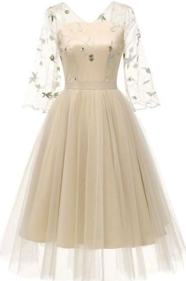 Elegant Tulle A Line Short Homecoming Dress, Prom Party Dress