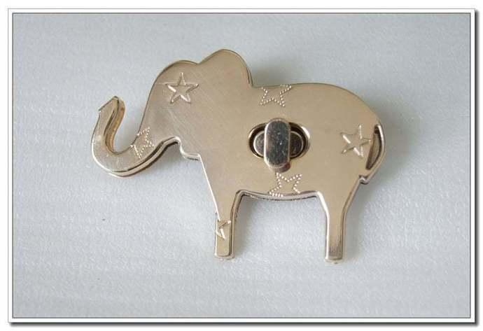 1 sets  elephant Bag lock Purse Twist Lock Closure Turn Lock Fastener Light