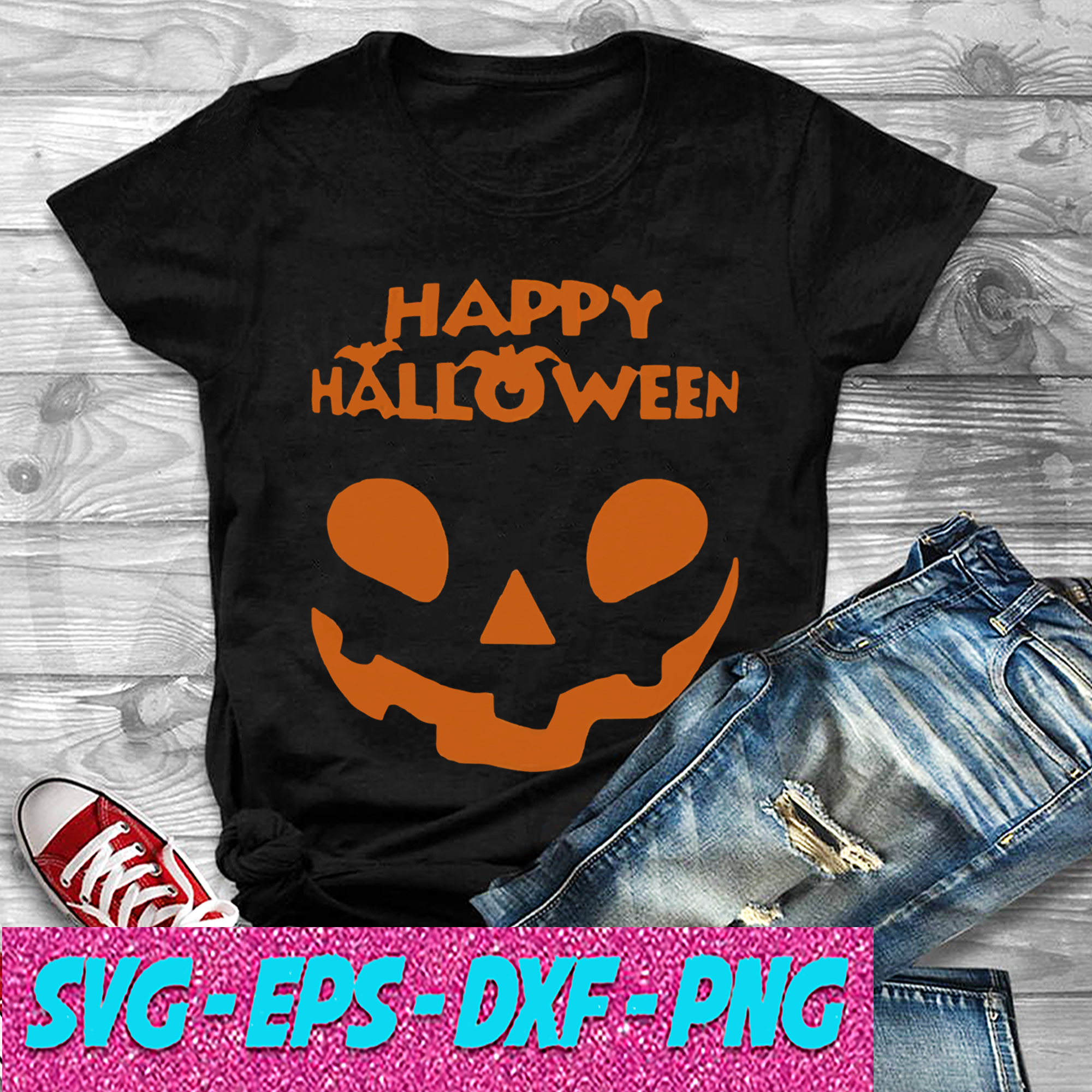 Pumpkin Happy Halloween 2020 SVG , EPS , DXF , PNG DIGITAL DOWNLOAD