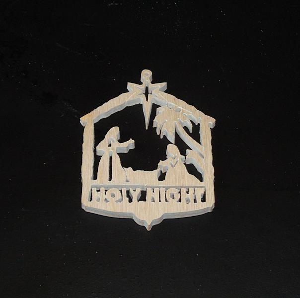 Holy Night Wood Ornament Unfinished Wood Stk No CO-1