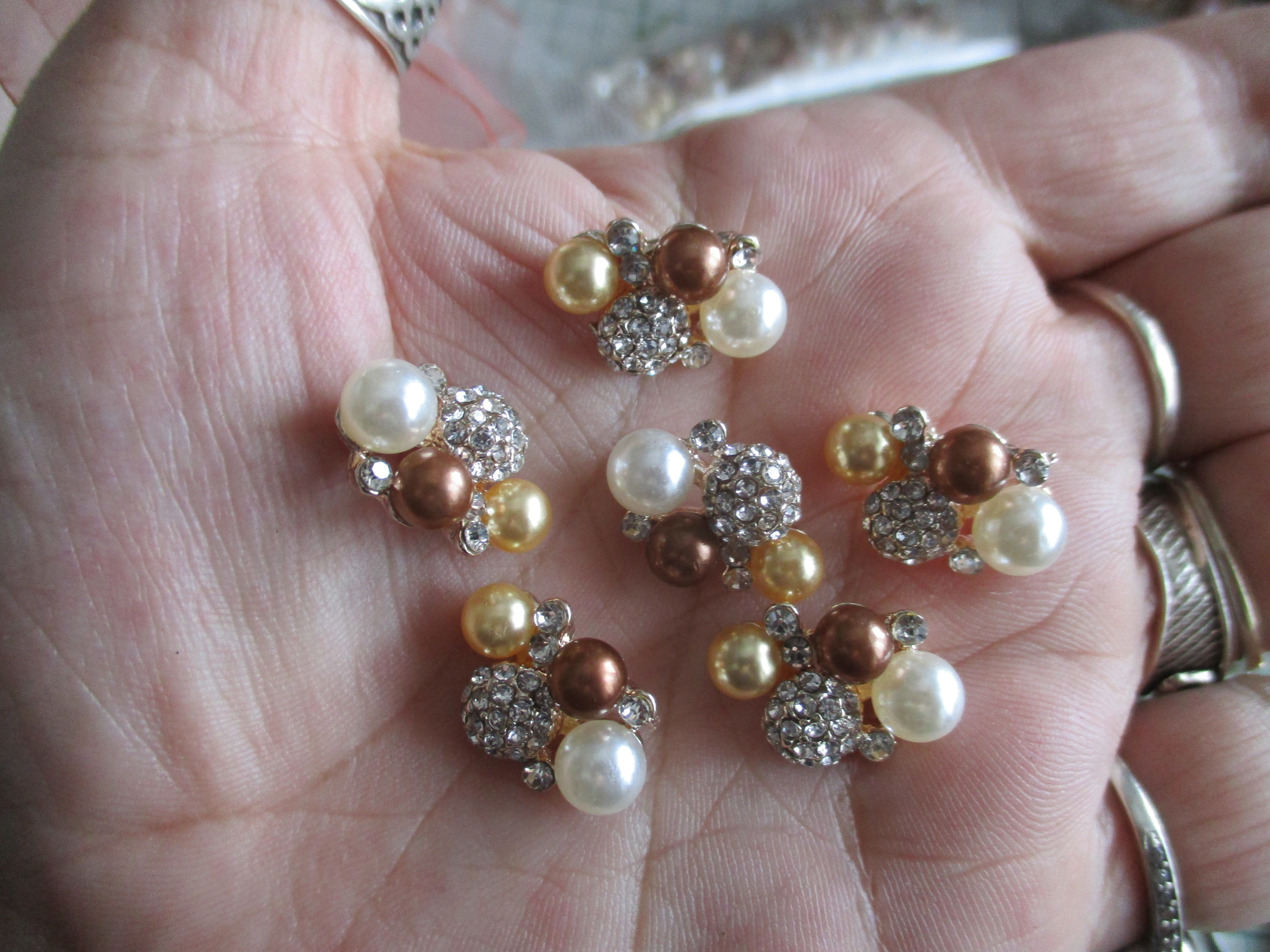 4 x Beaded/Bling Clusters