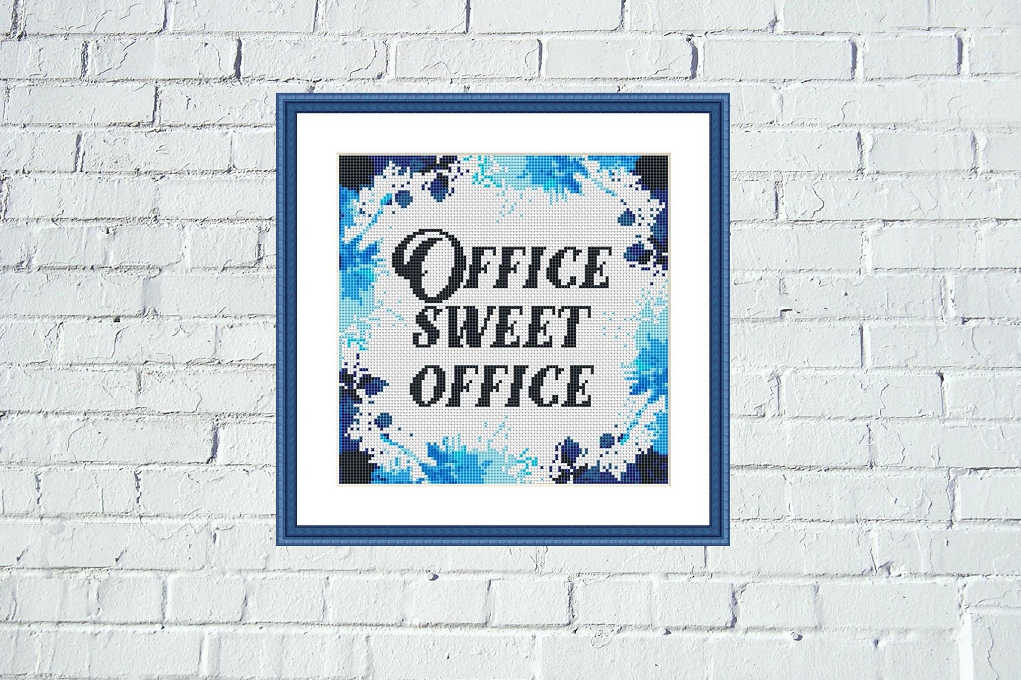 Office sweet office cross stitch