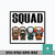 Squad horror movies character svg, Halloween svg, png, dxf, eps digital file