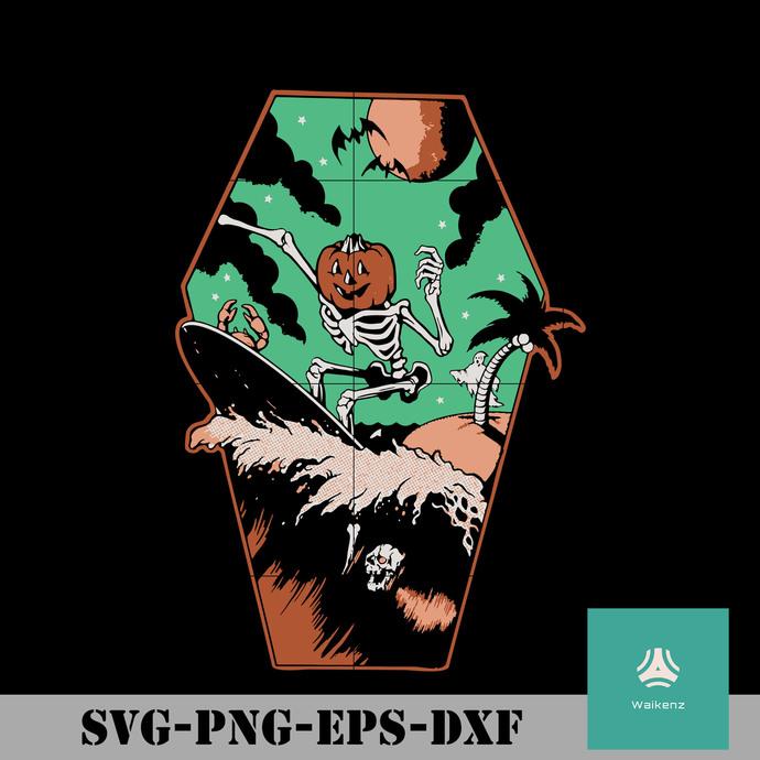 Surf Bones svg, Halloween svg, png, dxf, eps digital file HLW0106
