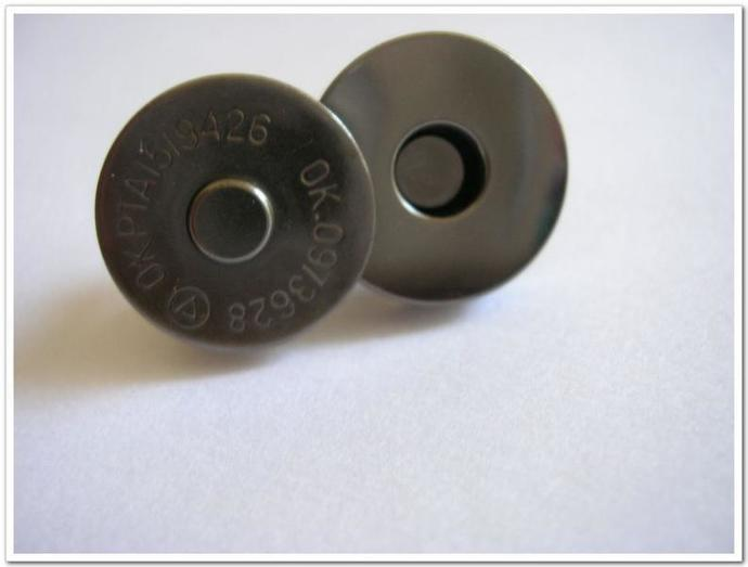 20 sets 18mm gunmetal magnetic snap Magnetic button