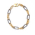Two Tone Sterling Silver Bracelet,Paper clip Sterling Silver Bracelet,Paper clip