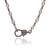 Sterling Silver Diamond Cut Chain,Sterling Silver Diamond Claps Necklace,