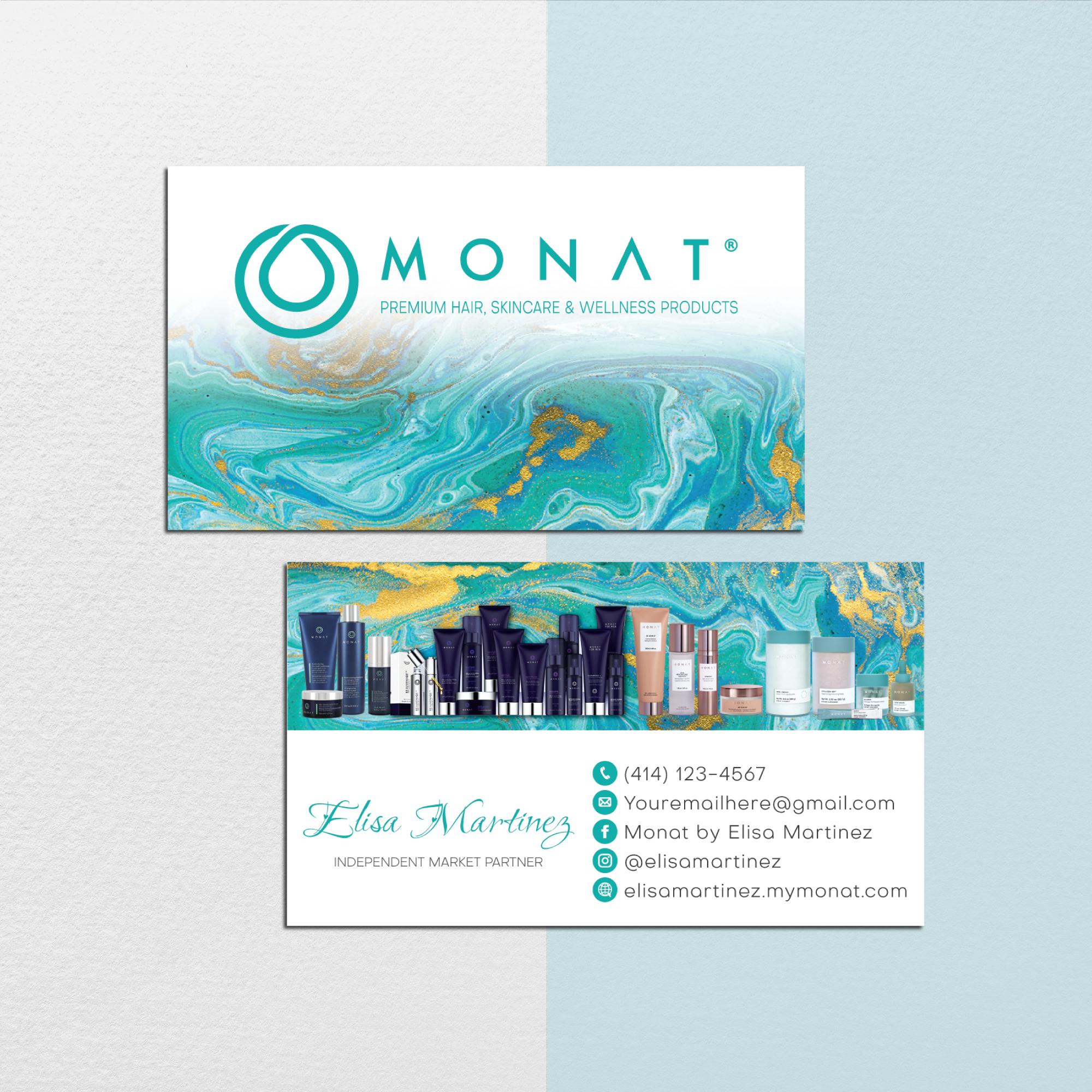 Personalized Monat Bundle, Custom Monat Cards, Monat Marketing Set, Monat
